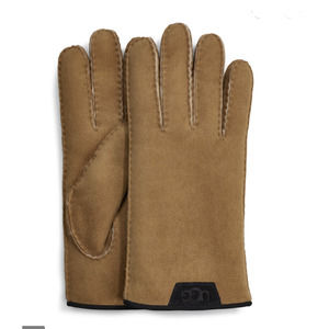 UGG MEN'S SHEEPSKIN GLOVES LEATHER TRIM SZ L